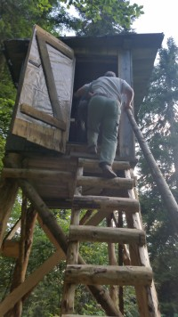 ladder naar hut